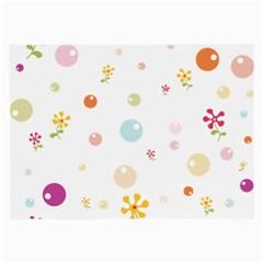 Flower Floral Star Balloon Bubble Large Glasses Cloth (2-Side)