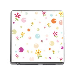 Flower Floral Star Balloon Bubble Memory Card Reader (Square)