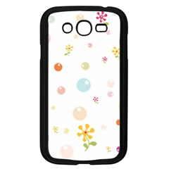Flower Floral Star Balloon Bubble Samsung Galaxy Grand DUOS I9082 Case (Black)