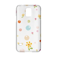 Flower Floral Star Balloon Bubble Samsung Galaxy S5 Hardshell Case