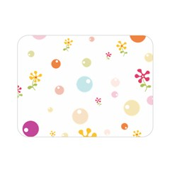 Flower Floral Star Balloon Bubble Double Sided Flano Blanket (Mini)