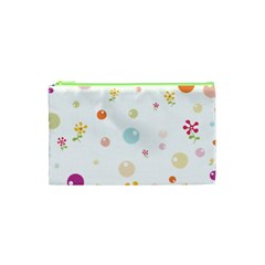 Flower Floral Star Balloon Bubble Cosmetic Bag (XS)