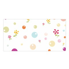 Flower Floral Star Balloon Bubble Satin Shawl