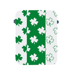 Flower Green Shamrock White Apple iPad 2/3/4 Protective Soft Cases