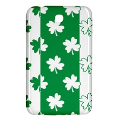Flower Green Shamrock White Samsung Galaxy Tab 3 (7 ) P3200 Hardshell Case