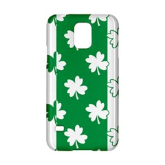Flower Green Shamrock White Samsung Galaxy S5 Hardshell Case