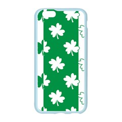 Flower Green Shamrock White Apple Seamless iPhone 6/6S Case (Color)