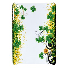 Flower Shamrock Green Gold Apple iPad Mini Hardshell Case