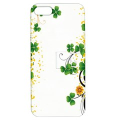 Flower Shamrock Green Gold Apple iPhone 5 Hardshell Case with Stand