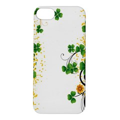 Flower Shamrock Green Gold Apple iPhone 5S/ SE Hardshell Case