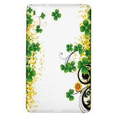 Flower Shamrock Green Gold Samsung Galaxy Tab Pro 8.4 Hardshell Case