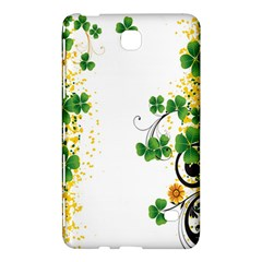 Flower Shamrock Green Gold Samsung Galaxy Tab 4 (8 ) Hardshell Case