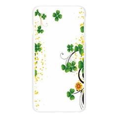 Flower Shamrock Green Gold Apple Seamless iPhone 6 Plus/6S Plus Case (Transparent)