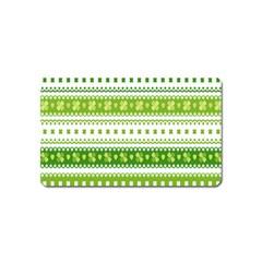 Flower Floral Green Shamrock Magnet (Name Card)