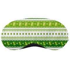 Flower Floral Green Shamrock Sleeping Masks