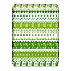 Flower Floral Green Shamrock Samsung Galaxy Tab 4 (10.1 ) Hardshell Case