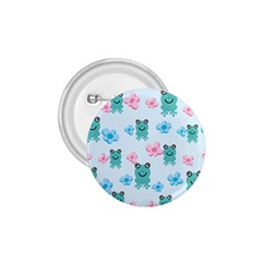 Frog Green Pink Flower 1.75  Buttons