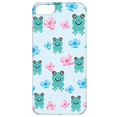 Frog Green Pink Flower Apple iPhone 5 Classic Hardshell Case
