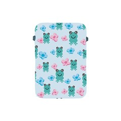 Frog Green Pink Flower Apple iPad Mini Protective Soft Cases