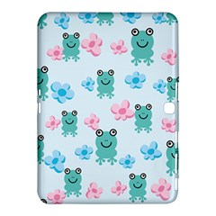 Frog Green Pink Flower Samsung Galaxy Tab 4 (10.1 ) Hardshell Case