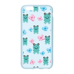 Frog Green Pink Flower Apple Seamless iPhone 6/6S Case (Color)