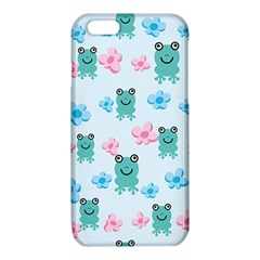 Frog Green Pink Flower iPhone 6/6S TPU Case