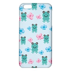 Frog Green Pink Flower iPhone 6 Plus/6S Plus TPU Case