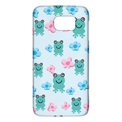 Frog Green Pink Flower Galaxy S6