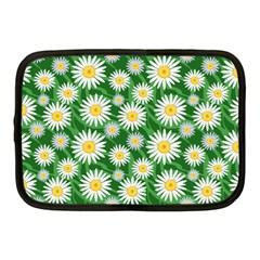 Flower Sunflower Yellow Green Leaf White Netbook Case (Medium)