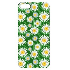 Flower Sunflower Yellow Green Leaf White Apple iPhone 5 Hardshell Case with Stand