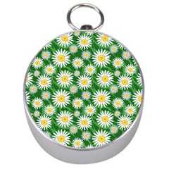Flower Sunflower Yellow Green Leaf White Silver Compasses