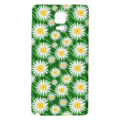 Flower Sunflower Yellow Green Leaf White Galaxy Note 4 Back Case