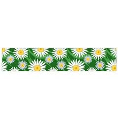 Flower Sunflower Yellow Green Leaf White Flano Scarf (Small)