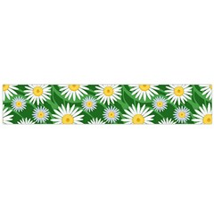 Flower Sunflower Yellow Green Leaf White Flano Scarf (Large)