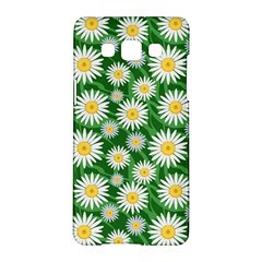 Flower Sunflower Yellow Green Leaf White Samsung Galaxy A5 Hardshell Case