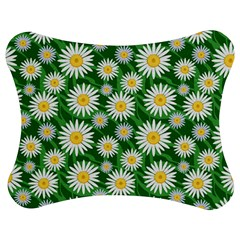 Flower Sunflower Yellow Green Leaf White Jigsaw Puzzle Photo Stand (Bow)