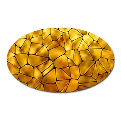 Gold Oval Magnet