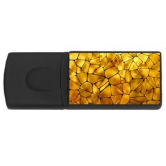Gold USB Flash Drive Rectangular (1 GB)