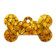 Gold Dog Tag Bone (One Side)