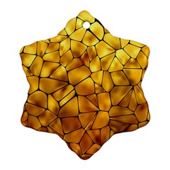 Gold Snowflake Ornament (Two Sides)
