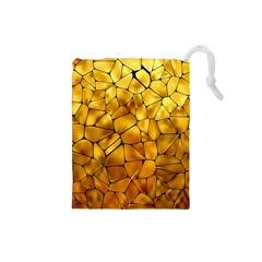 Gold Drawstring Pouches (Small)