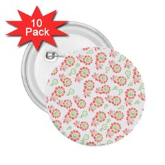 Flower Floral Red Star Sunflower 2.25  Buttons (10 pack)