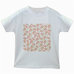 Flower Floral Red Star Sunflower Kids White T-Shirts