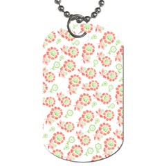 Flower Floral Red Star Sunflower Dog Tag (One Side)