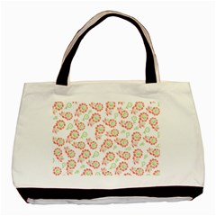 Flower Floral Red Star Sunflower Basic Tote Bag (Two Sides)