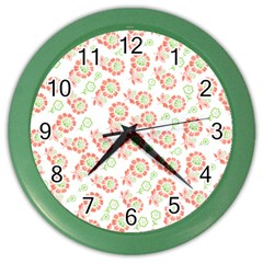 Flower Floral Red Star Sunflower Color Wall Clocks