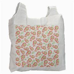 Flower Floral Red Star Sunflower Recycle Bag (Two Side)