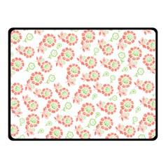 Flower Floral Red Star Sunflower Double Sided Fleece Blanket (Small)
