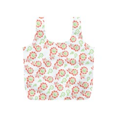 Flower Floral Red Star Sunflower Full Print Recycle Bags (S)