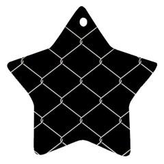 Iron Wire White Black Ornament (Star)